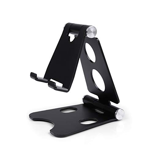 Adjustable Tablet Stand Holders Multi-Angle Foldable Aluminum Desk Stand for Universal Cell Phone, 1