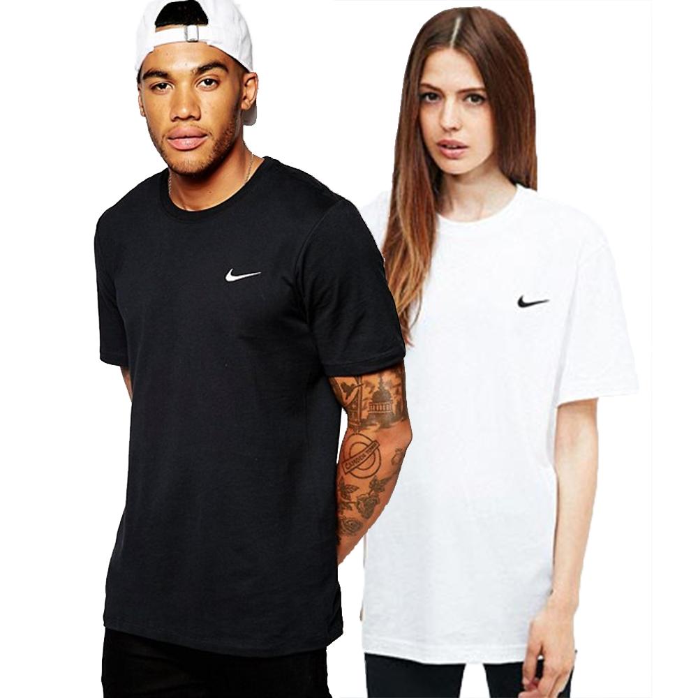 나이키 스우시 자수로고 반팔티 남녀공용 2컬러 티셔츠