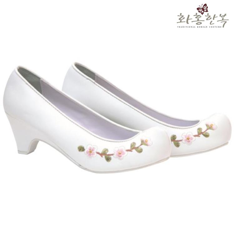 화홍한복 꽃신 여자 한복 신발 매화 자수 3cm 5cm 7cm 9cm
