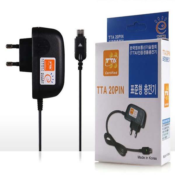 국산 정품 인지 가정용 TTA 20핀 충전기 일체형충전기 폴더폰충전기 구형핸드폰충전기, 1개