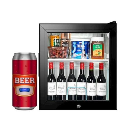 가정용 술장고 쇼케이스 냉장고 원룸 소주 음료수 와인 원도어 신혼 소형 술냉장고 50리터 71리터 90리터 100리터, 소형(50L)
