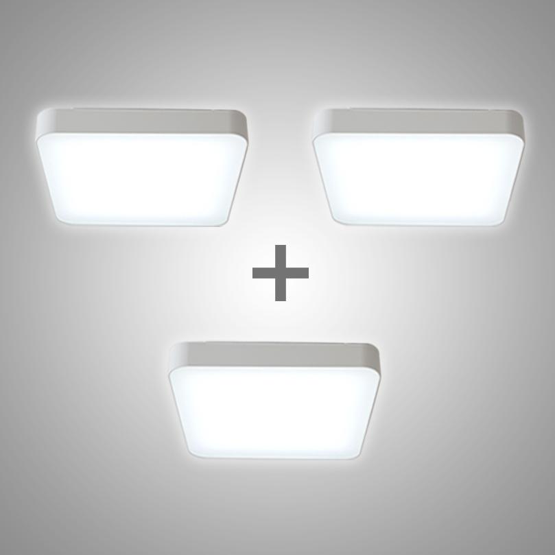라이팅에버 삼성칩 올뉴시스템 방등 LED50W 화이트(ANSP50)RAC 3개세트 국산KC인증 천장등/실링라이트