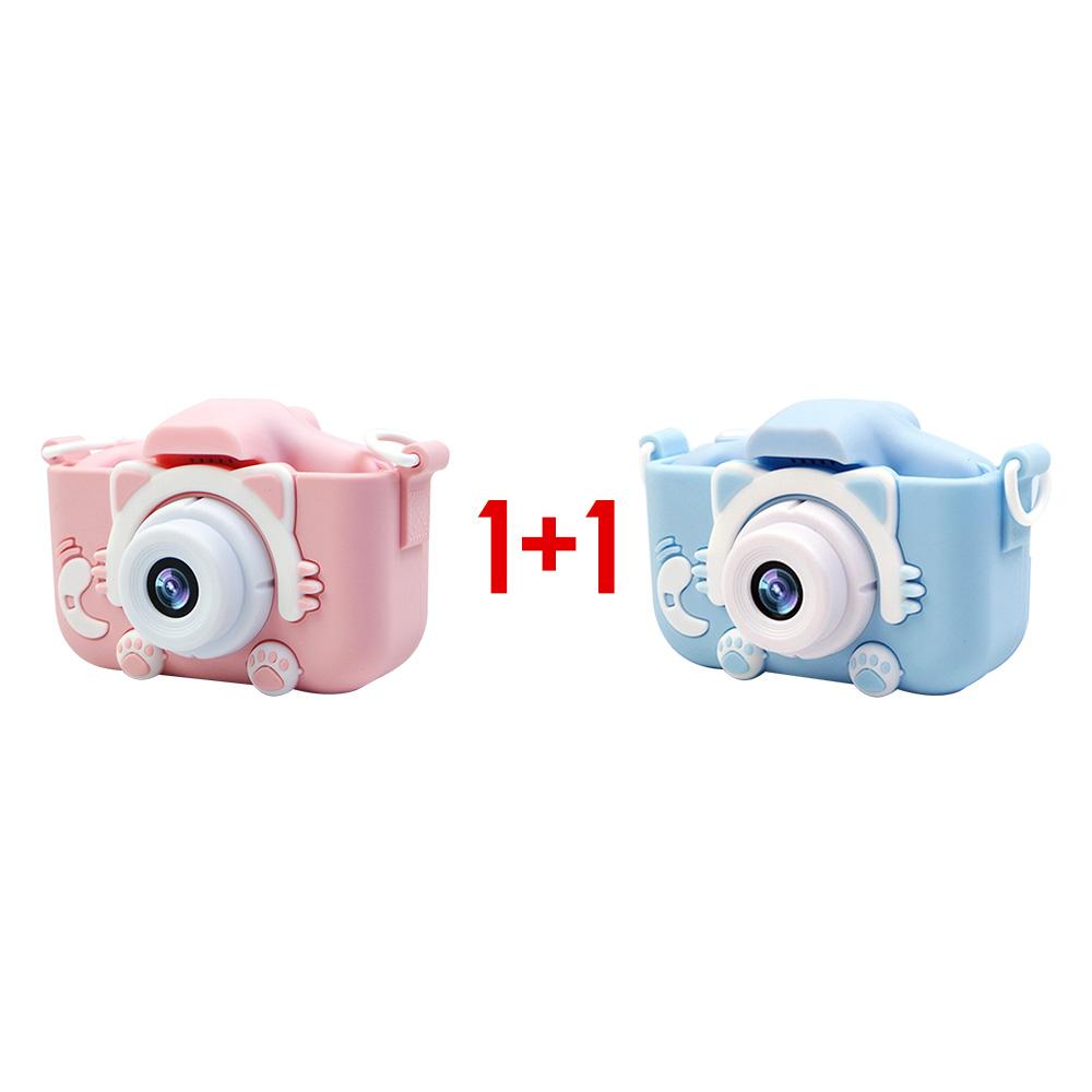 넥스 2000만 화소 X5S 고양이발 카메라 1+1, 핑크+블루