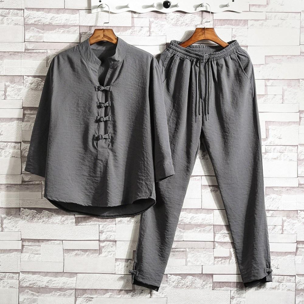 봄 여름 린넨 티셔츠 바지 승복 도포 법복 스님 승려복 개량 생활 한복 순면 남여 공용
