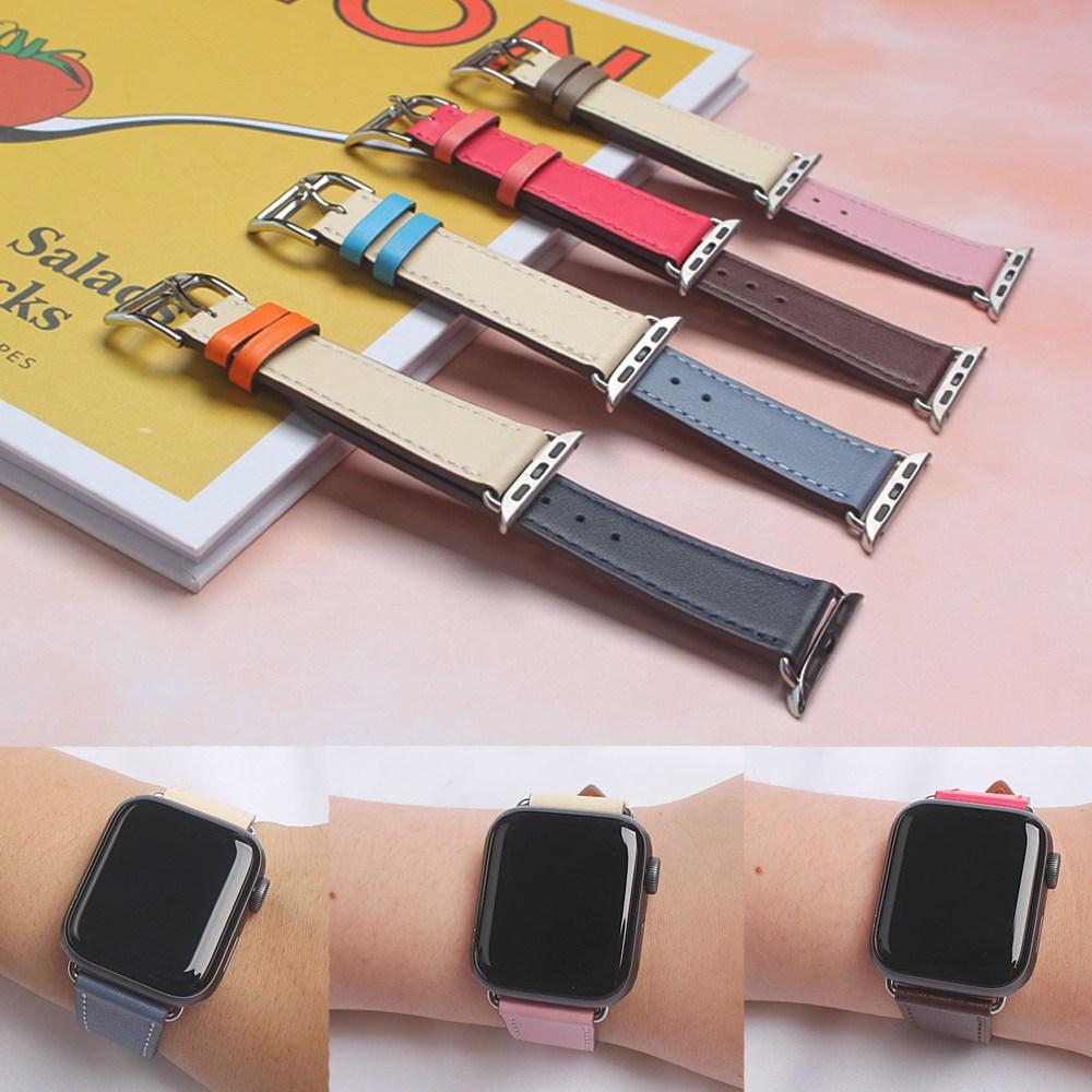 태블리 애플워치 5 4 3 2 1 밴드 스트랩 시계줄 38 40 42 44mm, 1개, 2.WN-003핑크38/40