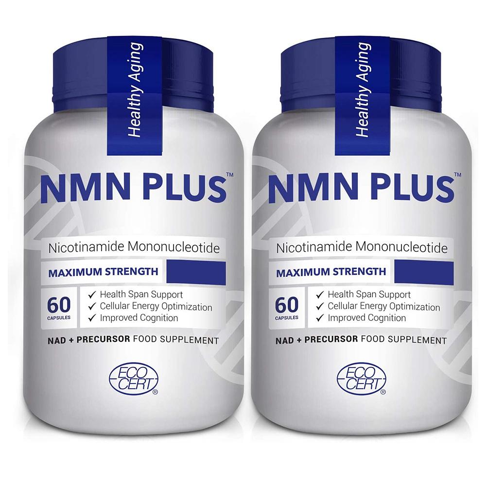 NMN PLUS NMN 플러스 니아신 니코틴아미드 500mg 60정 2병, 2통, 60캡슐