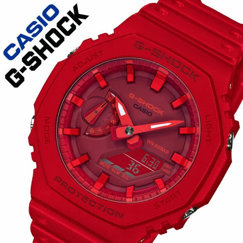 카시오 손목 시계 CASIO시계 카시오 시계 CASIO손목 시계 지 쇼크 G-SHOCK남성 레드 GA-2100-4AJF[인기