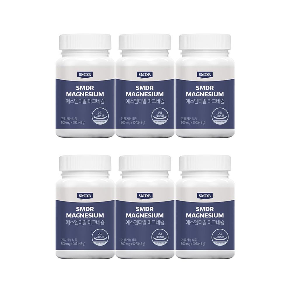 SMDR 에스엠디알 마그네슘 6병(6개월), 1