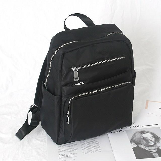 베이지라벨 고급 나일론 방수원단 가벼운 여행용 배낭 30대 40대 여성 방수 백팩 백백 가방