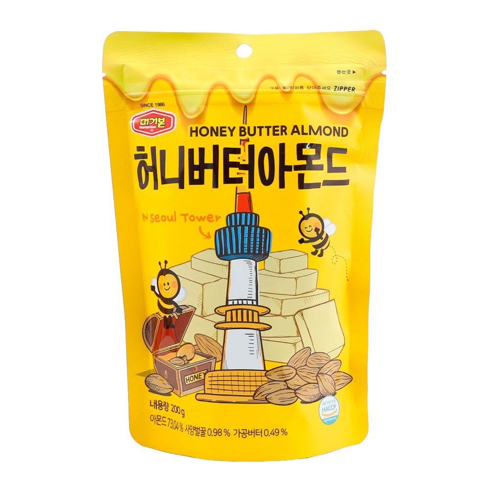 머거본 허니버터 아몬드 200g 20봉 1박스(어린이집 유치원 부모님 엄마 아빠 생일 선물), 1