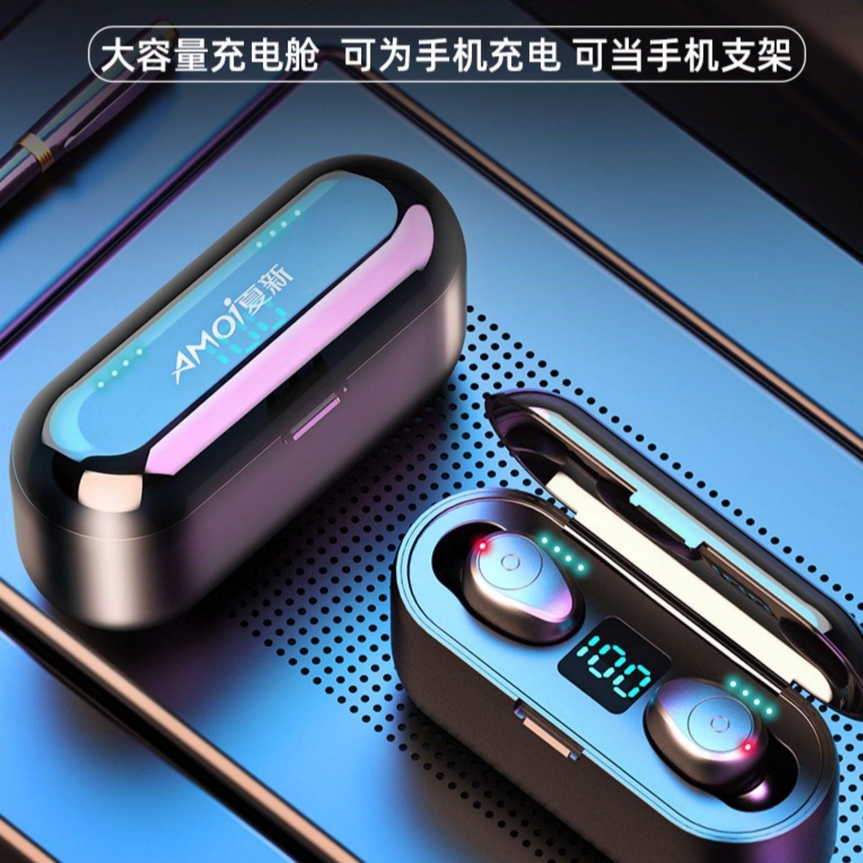 AMOI 샤신 블루투스이어폰 5.0 이어폰 무선이어폰-블랙, QCY T5 블랙