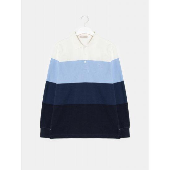빈폴멘 [빈폴] 화이트 컬러 블록 믹스 칼라 티셔츠