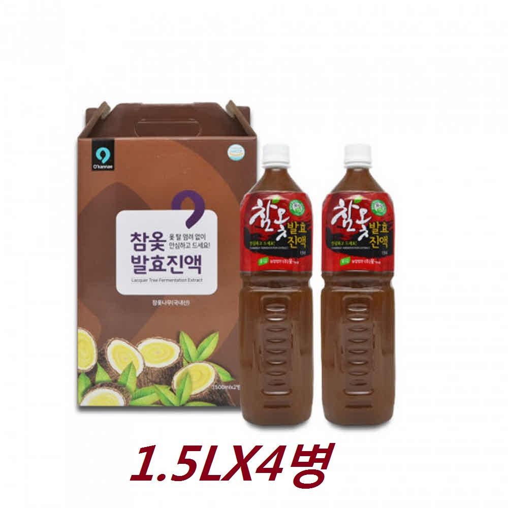 참옻발효진액 국내산 참옻 옻 진액 엑기스 1.5Lx4통
