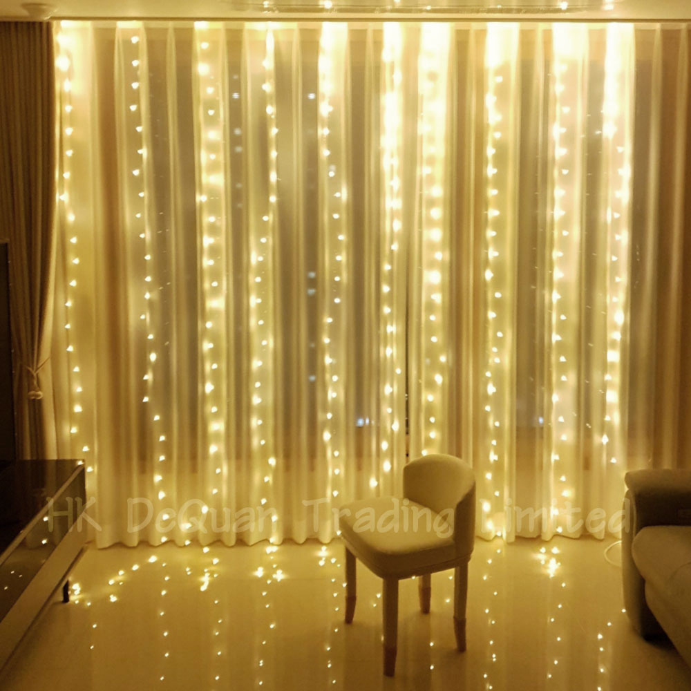 레이스빈 LED 와이어전구 300구 파티라이트 커튼조명 줄조명, 웜화이트(여러 개 구매하시면 더 예뻐요)