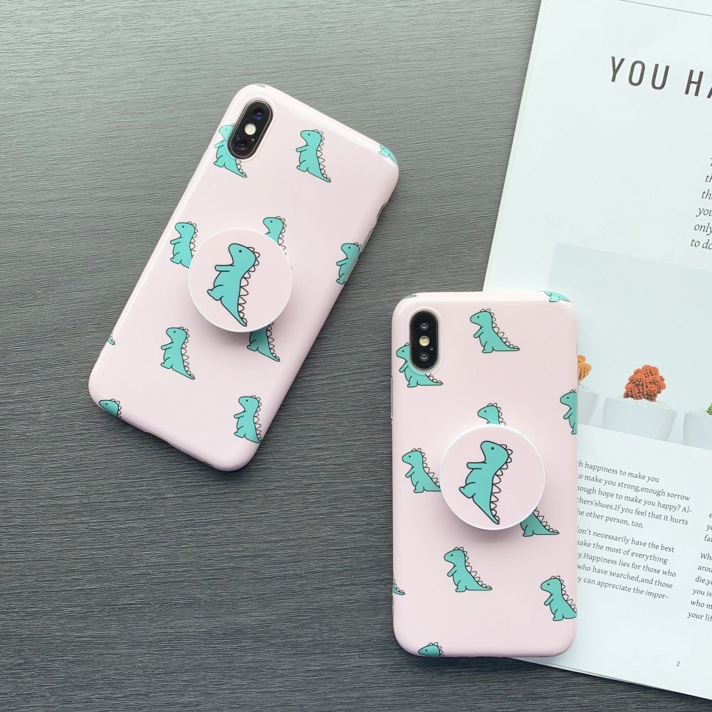 미퓨어 공룡 패턴 스마트톡 휴대폰 케이스