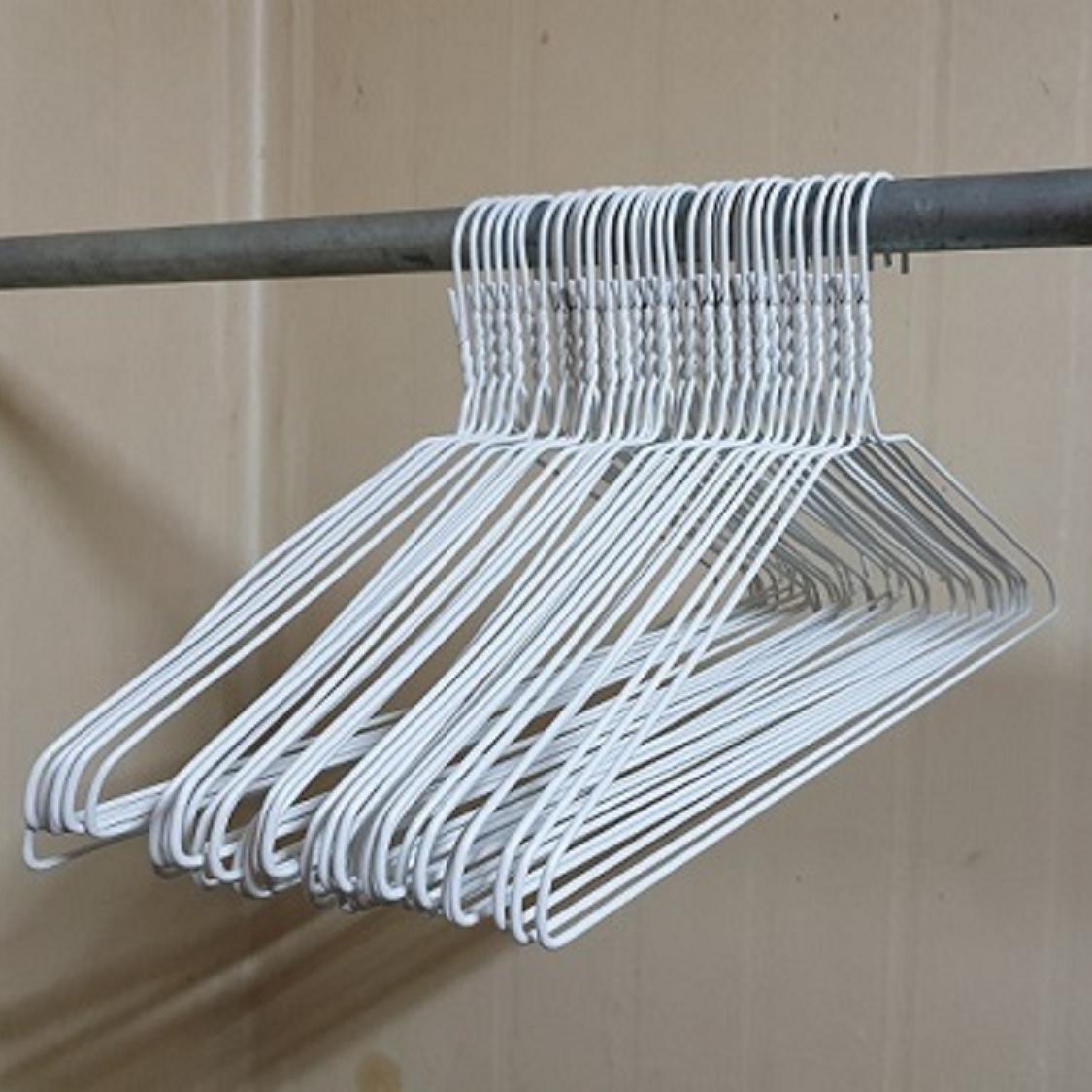 마이피플 세탁소 옷걸이100개+바지걸이종이대10EA 옷걸이, 100개입, 화이트