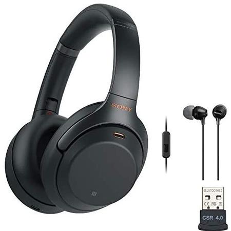 헤드셋 Sony WH-1000XM3 Wireless Noise-Canceling Over-Ear Headphones (Black USA Warranty) with Sony, 상세 설명 참조0, Black
