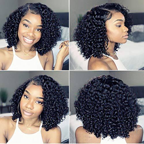 Newa Hair Newa Hair 13x6 Lace Front Human Hair Wigs Pre Plucked Short, 상세내용참조