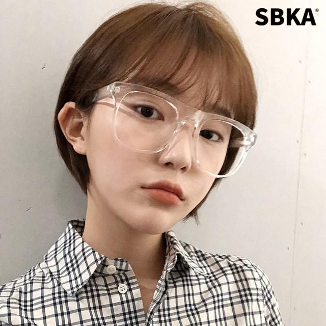 에스비카 SBKA K86 투명 뿔테 안경 오버사이즈 남자 여자