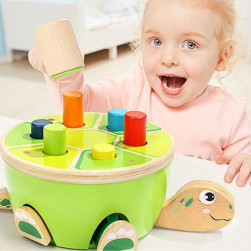 완구 탑브라이트 거북이 망치 놀이 도형 매트 감각발달 블록 18개월아기장난감