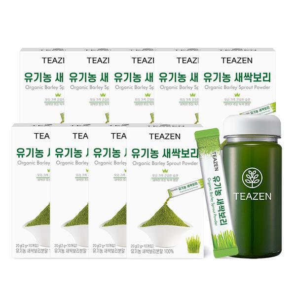[핫트랙스] 티젠 티젠 유기농 새싹보리 분말 4주분 (90스틱+보틀), 총 수량