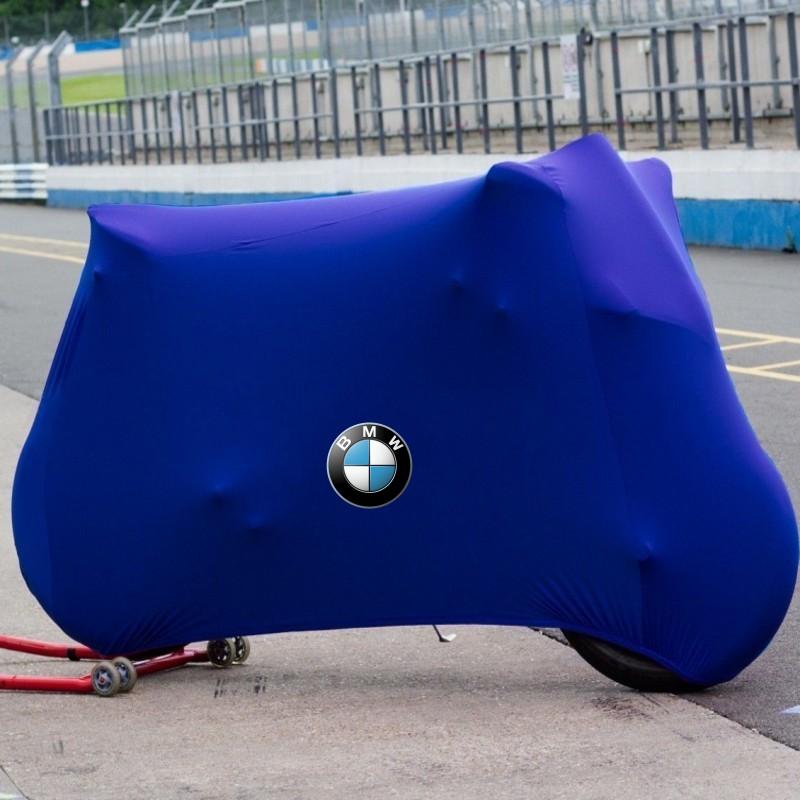 스쿠터커버 BMW차량 S1000RR라떼 G310RHP4K1300SR1200RF800R오토바이 재봉틀, C14-블루(럭셔리타입 타이트 탄력 기모)비고 차종