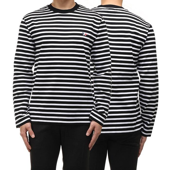 [나니럭스] 메종키츠네 20FW 스트라이프 티셔츠 FUOO115 KJ0044