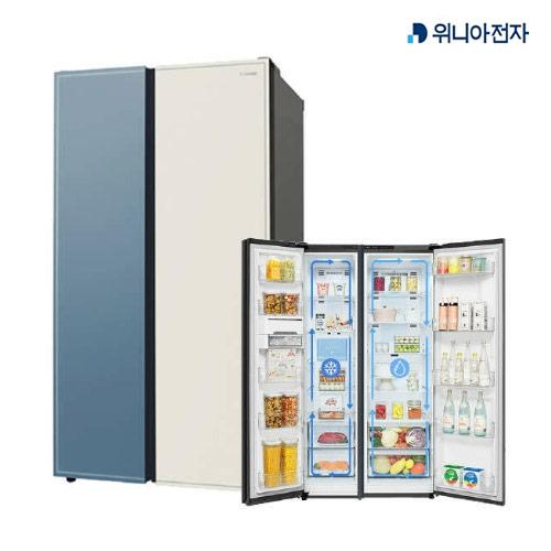 [무료설치배송][클라쎄] 양문형 냉장고 830L (컬러 홈 스타일링 / 듀얼쿨링시스템), WKR83DSSBBF (POP 5273733099)