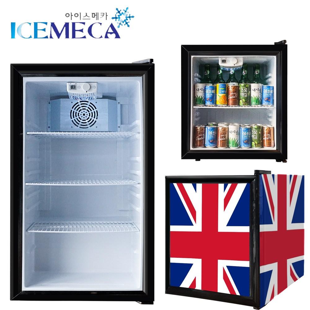 프리탑 미니 소형 음료수 냉장고 저소음 쇼케이스 술장고, SC-52사각 블랙 (POP 4964636860)