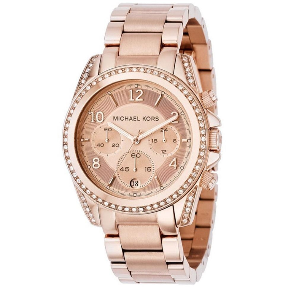 마이클코어스 영국직배송 MK5263 로즈골드톤 크리스탈 글릿츠 심플 여성패션 럭셔리 손목시계 여성인기시계