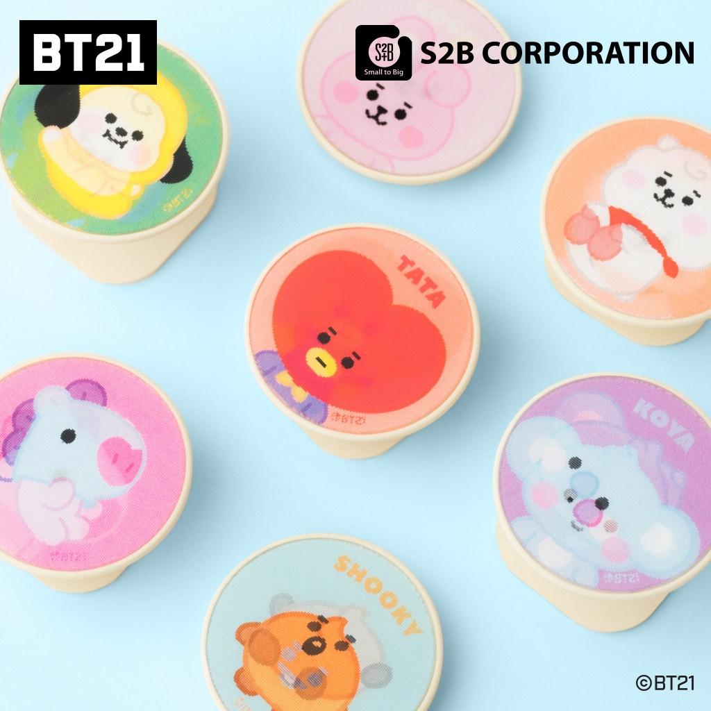BT21 베이비 매직 그립 홀더 홀로그램 거치대, 1개, 타타