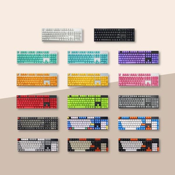 PBT OEM 컬러 키캡 67종 분필 돌치 카본 측각 무각 이중사출 LED 투과, 정각, B11 블랙그레이