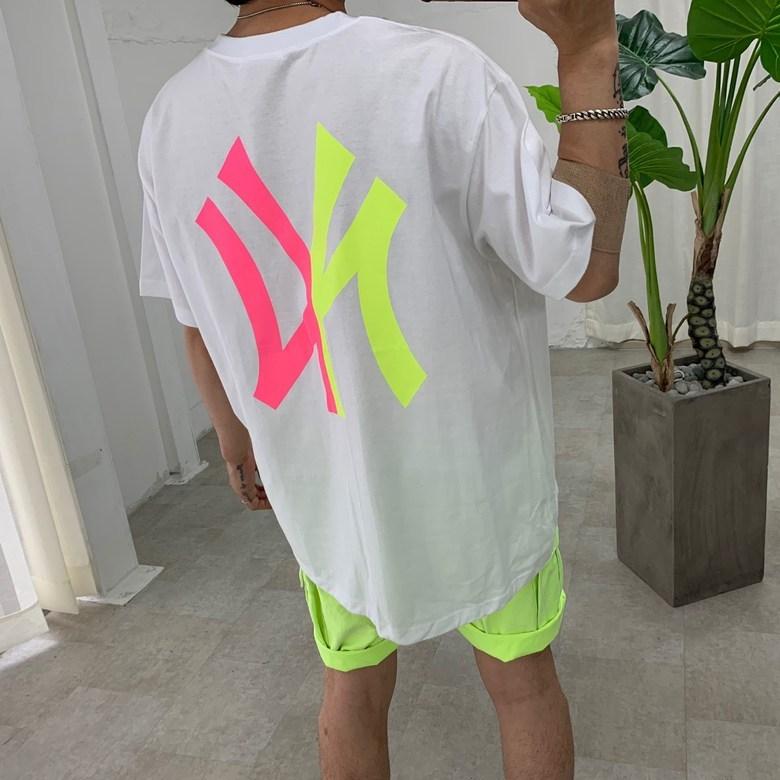 스트릿제이 네온 뉴욕 반팔 티셔츠