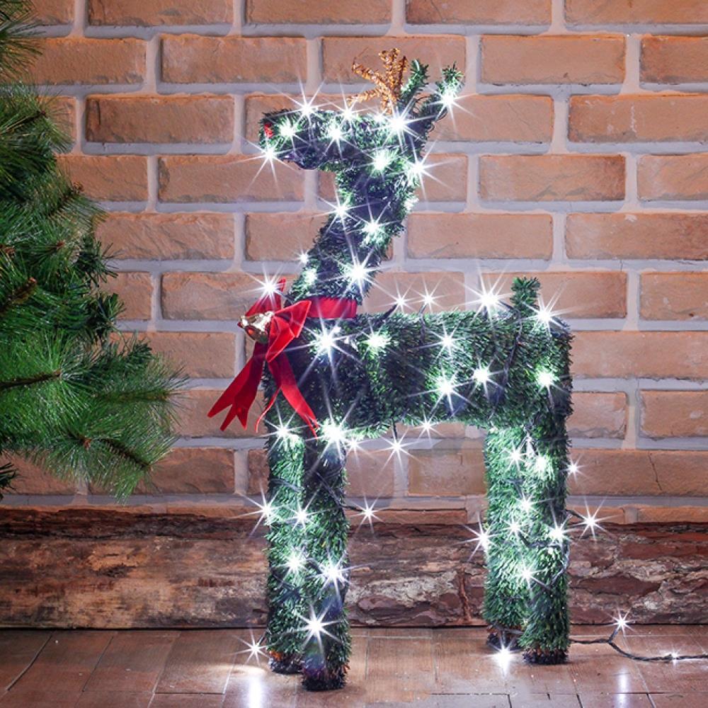 사슴 트리 장식 LED 조명 전구 포함 세트 60cm 루돌프 조형물