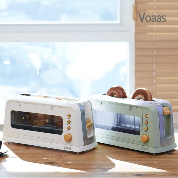 [보아스] 클린 토스터기 토스트기 완벽청소 베이글가능, 색상선택:민트[VO-PT01]