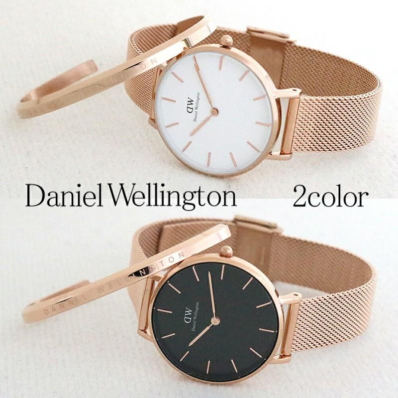 [브랜드 쇼퍼부]다니엘 웰링턴 손목 시계 팔찌 세트 레이디스 클래식 페티트 멜로즈 2type시계 브로