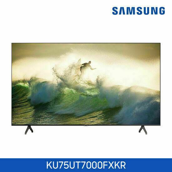 삼성 UHD TV 75인치 KU75UT7000FXKR, 스타일 :벽걸이
