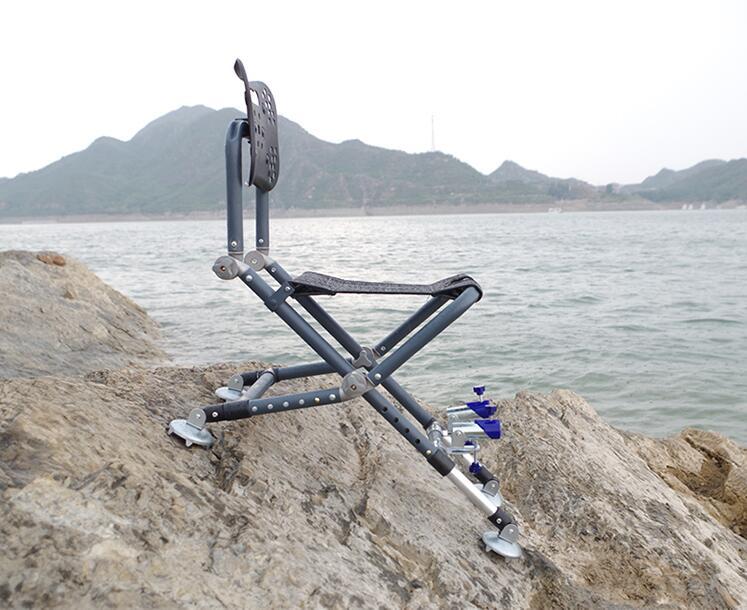 휴대용 접이식 낚시의자 소좌대 갯바위 낚시의자, 의자만개, 그레이