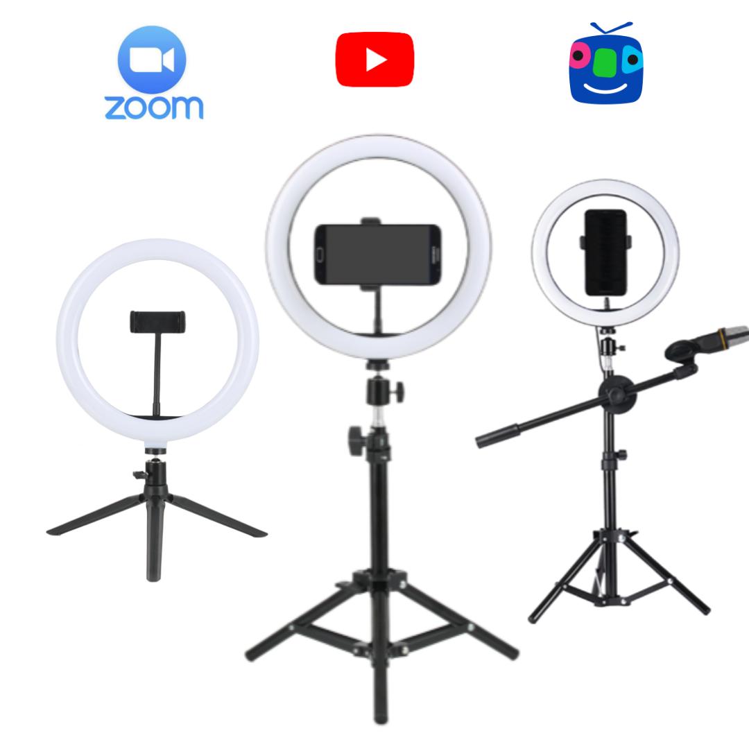 유튜브팩토리 유튜브장비 유튜버 아프리카tv 개인 1인 방송 촬영 링라이트 LED 조명 모음전, 1세트, A 세트