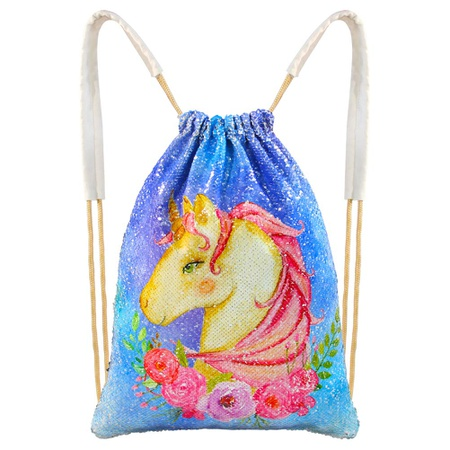 HOL세퀸 시퀸 F67 반짝이 스팽글 가방 백팩 배낭 MHJY Mermaid Bag Sequin Drawstring Backpack Dancing Ba