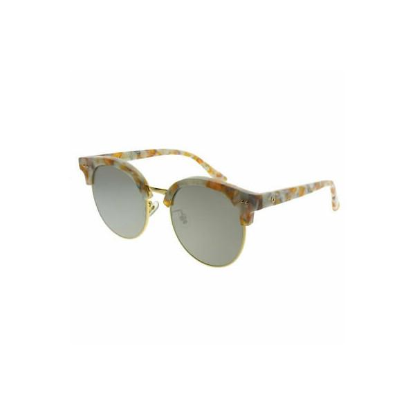430599 / Gentle Monster MoonCut.S WD1(2M) Beige Marble Gold Sunglasses Gold Mirror Lens