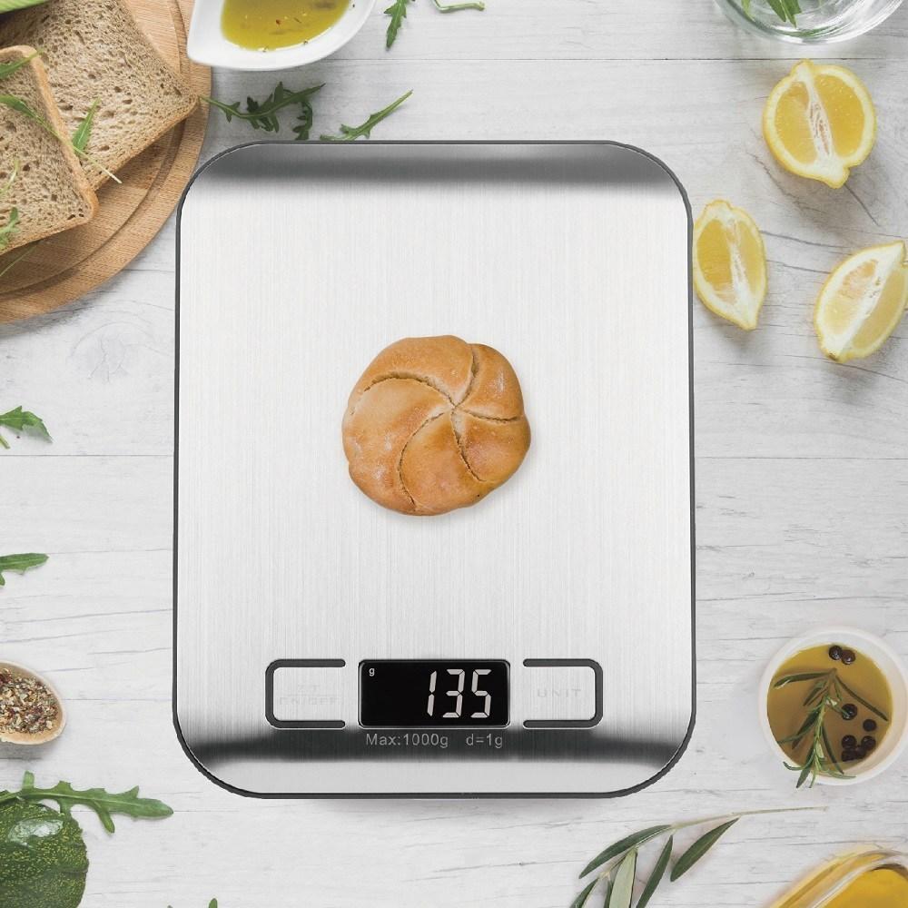 레나에너지 주방 생활 디지털 저울, 하얀색 바닥, 1gr