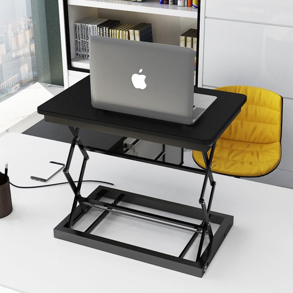 이동식 컴퓨터 책상 접히는 책상 테이블 이동 사무실 작업대, B