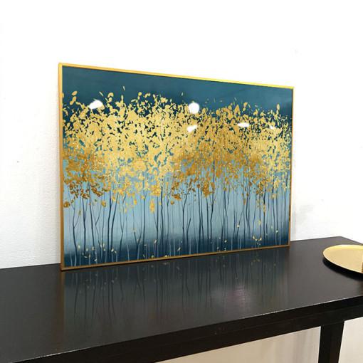 이나코리아 황금 돈 나무 그림액자 거실 추상화 인테리어 액자, 골드 메탈