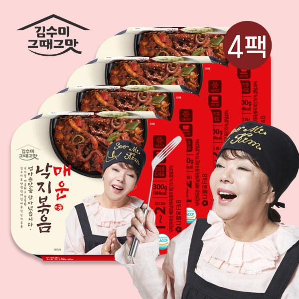 [김수미] [ 그때그맛]매운낙지볶음 300g*4팩, 상세 설명 참조