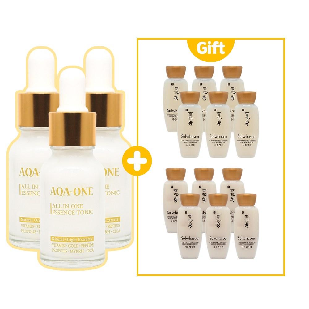 AQA1 에센스 3개 구매시 설화수 샘플 자음생수 15ml + 자음생유액 각6개 증정, 1개