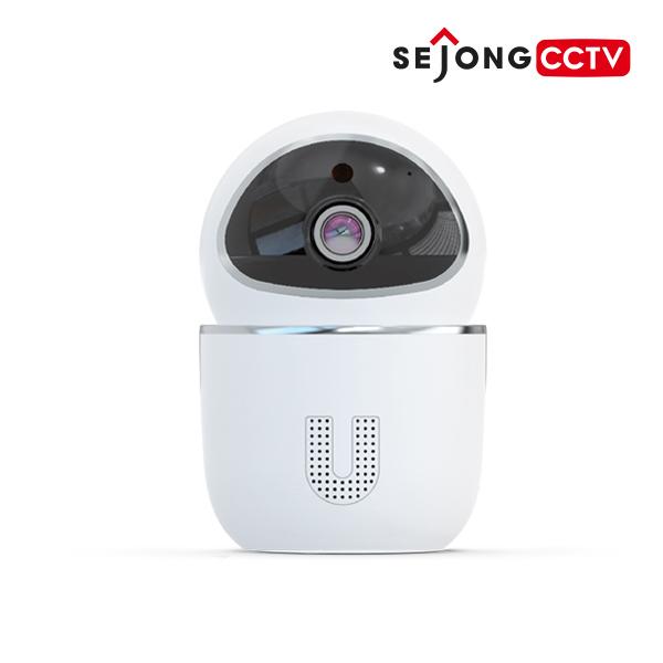 SEJONG CCTV 2MP 가정용 홈 무선 와이파이 IP 네트워크 회전형 카메라 세종 씨씨티비 홈캠 지킴이 실내용, 세종 씨씨티비 지킴이+카메라 벽 브라켓