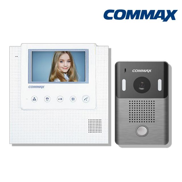 코맥스 CAV-43U 아날로그 인터폰 비디오폰, CAV-43U(화이트)+DRC-4L 세트