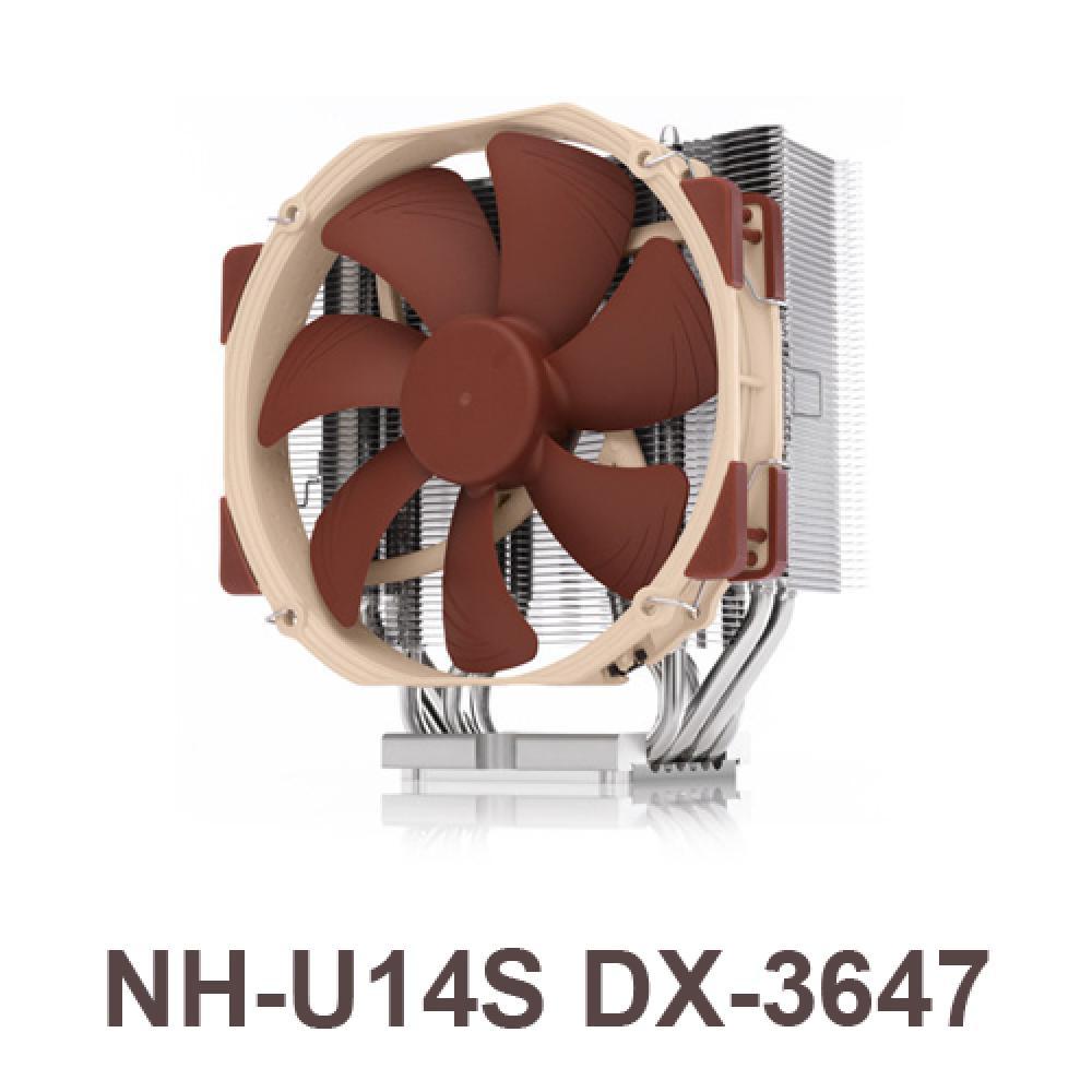 [C.H] NOCTUA NH-U14S DX-3647 녹투아 쿨링 팬 CPU쿨러 PWM 팬쿨러 베어링SSO2 타워형 공랭 25T 140mm NOCTUA LGA3647, 단일상품