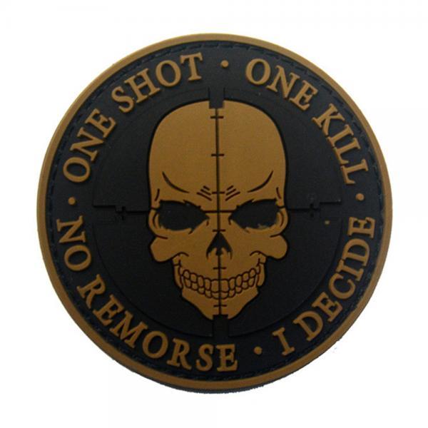 ☞고객대만족↗¶ 벨크로 제작 와펜 밀리터리 shot 군용품 군용 pvc패치 (MAm*†) one kill